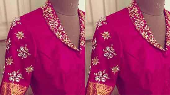 Collar Blouse Design