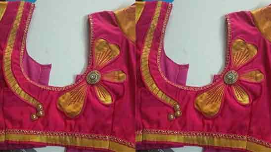 Design of Blouse Back Side