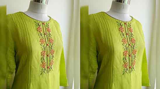 Design of Suit Neck Back and Front