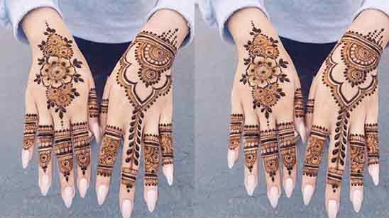Easy Arabic Mehndi Designs For Full Hands