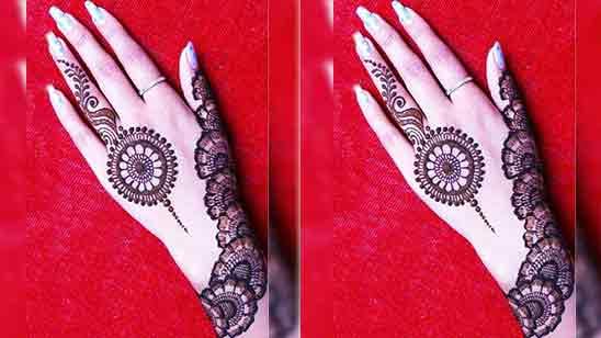 Easy Back Hand Mehndi Designs