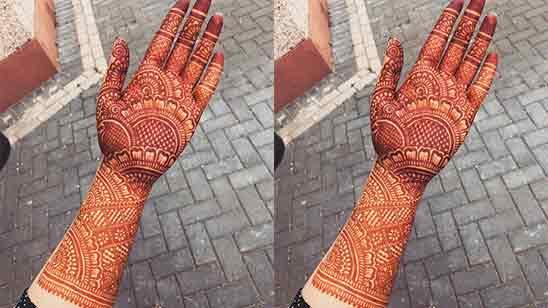 Easy Bridal Mehndi Designs For Full Hands