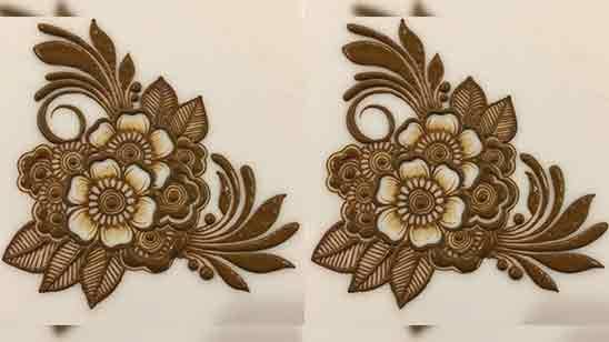 Easy Flower Mehndi Design