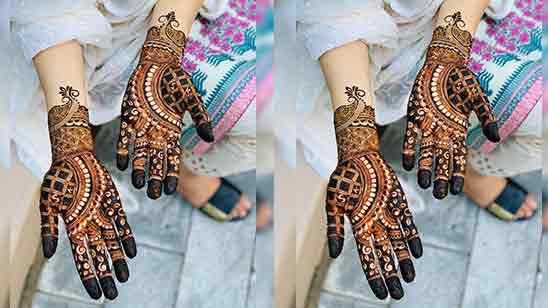 Easy Flower Mehndi Designs