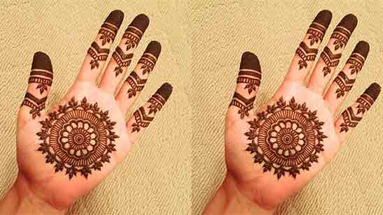 Easy Simple Arabic Mehndi Designs For Back Hands