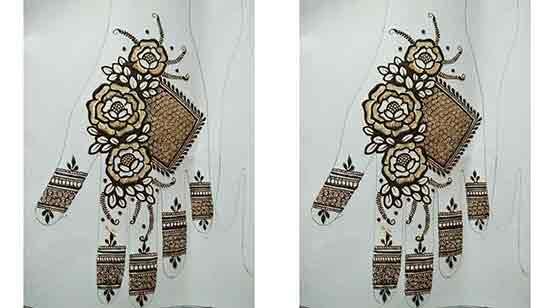 Easy Simple Flower Mehndi Design