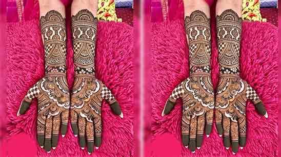 Easy Simple Full Hand Mehndi Design