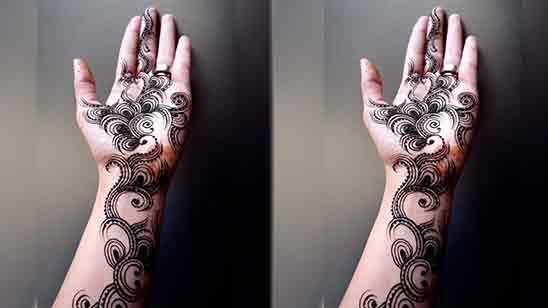 Eid Finger Mehndi Design