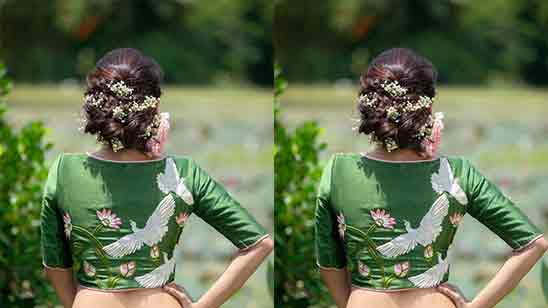 Embroidery Blouse Designs Neck Back
