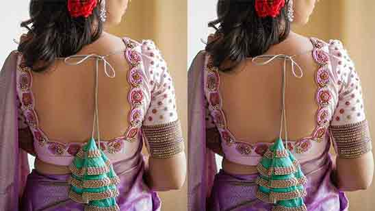 Embroidery Designs For Blouse Back Neck