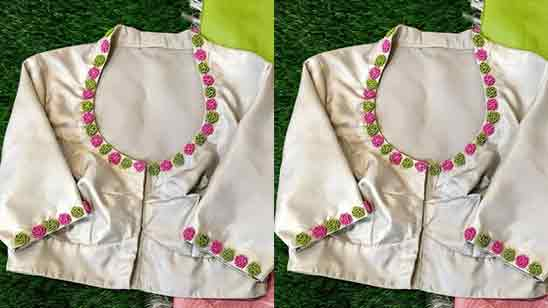 Embroidery Neck Designs For Blouse