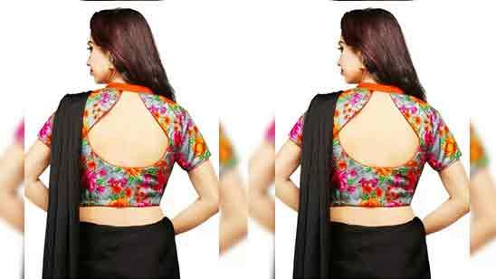 Fancy Blouse Design Back Side