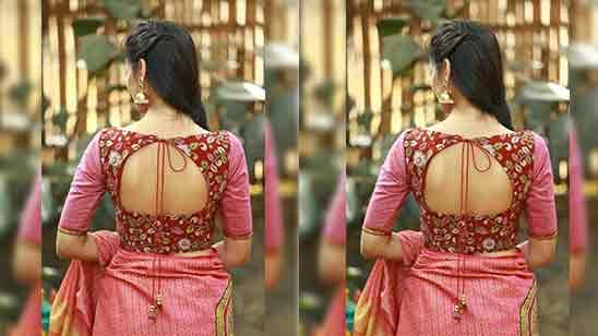 Fancy Blouse Design Back Side Images