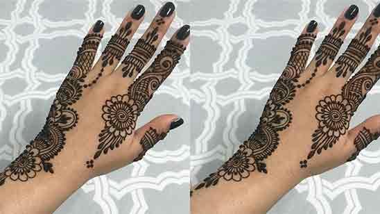 Finger Mehndi Design Simple and Easy