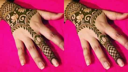 Finger Mehndi Design Video