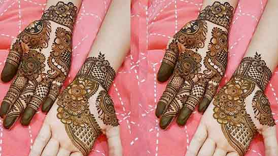 Floral Mehndi Designs For Front Hands
