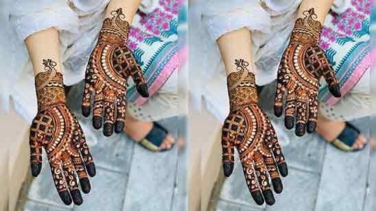 Flower Mehndi Designs For Front Hands