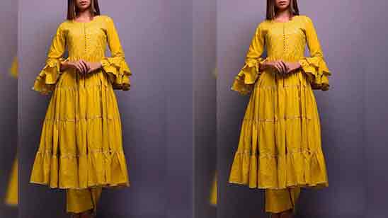Frill Sleeves Design For Kurti