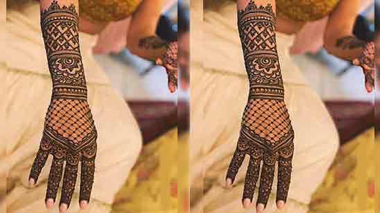 Front Full Hand Mehndi Design Easy