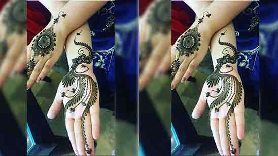 Front Full Hand Mehndi Design