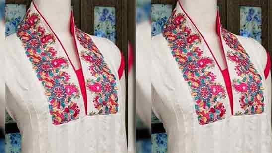 Front Neck Design for Suit