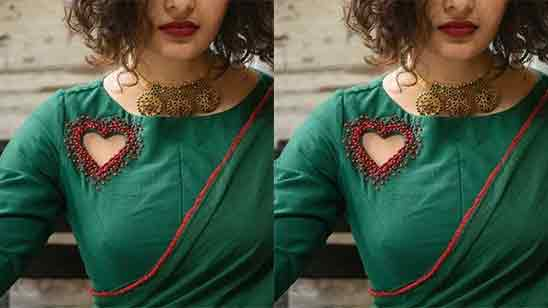 Front Neck Designs For Blouse