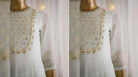 Front Neck Net Design of Suits