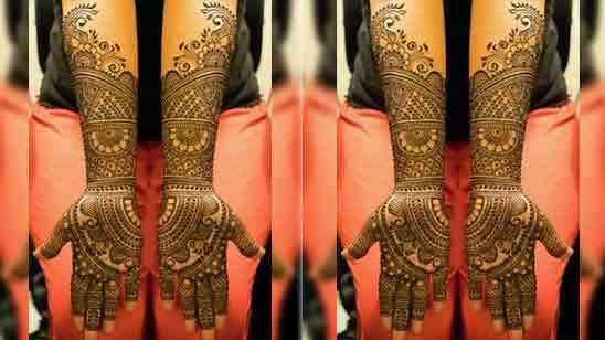 Full Hand Mehandi Design Simple