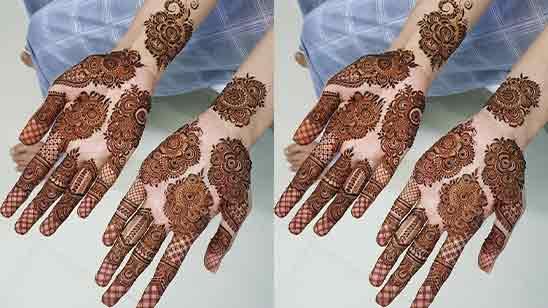 Full Hand Mehndi Design Simple