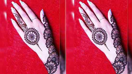 Full Hand Mehndi Simple Design
