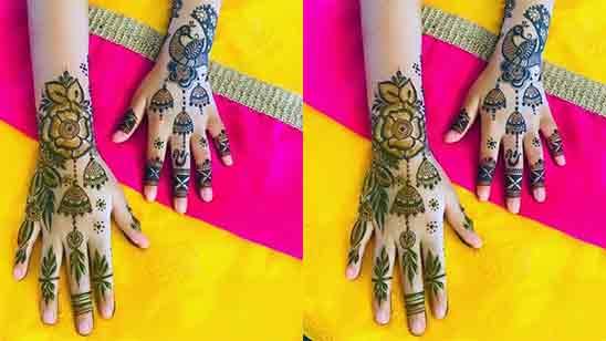 Full Hand Mehndi Simple Designs