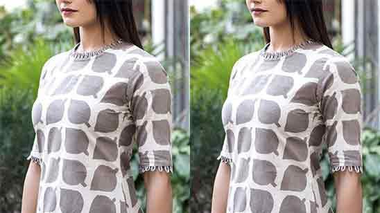 Half Sleeves Design For Kurti