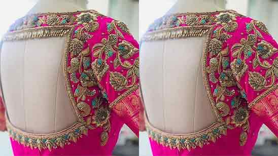 Latest Bridal Maggam Work Blouse Designs