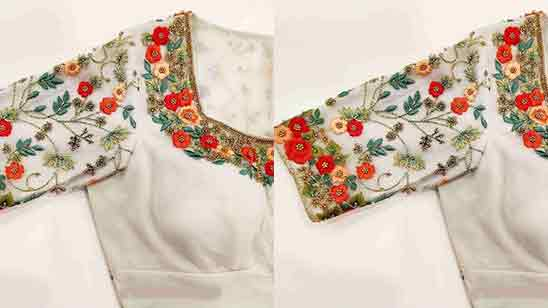 Latest Simple Maggam Work Blouse Designs 2019