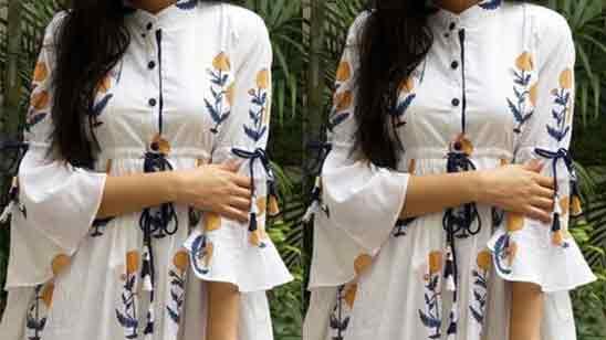 Long Sleeve Designs For Kurtis