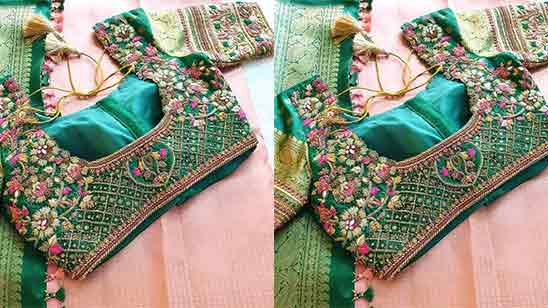 Maggam Work Blouse Designs for Bridal