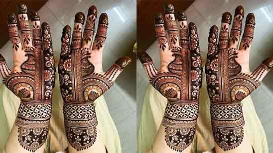Marriage Simple Easy Full Hand Mehndi Design