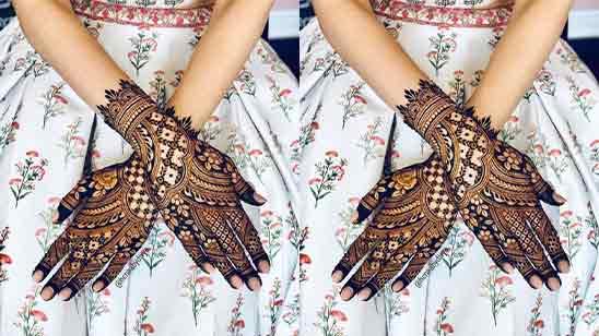 Mehandi Design Back Hand Flower