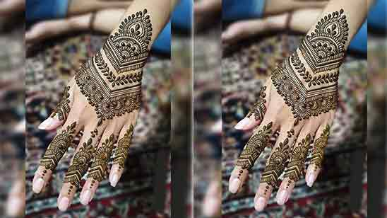 Mehndi Design Simple And Easy Full Hand Front