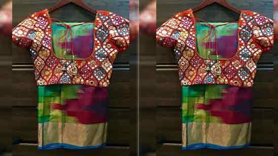 Mirror Maggam Work Blouse Designs