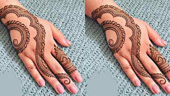 Modern Finger Mehndi Design