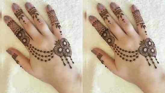 Modern Ring Finger Mehndi Design