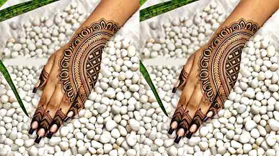 Modern Simple Finger Mehndi Designs