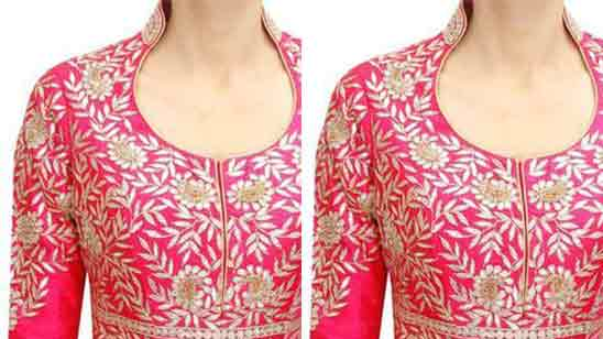 Neck Designs of Suits for Ladies