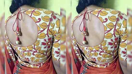 New Blouse Design Back Side