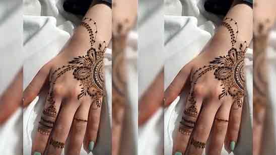 New Full Hand Mehndi Design