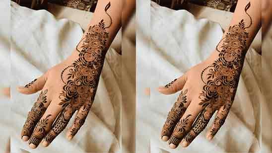 New Stylish Arabic Mehndi Design