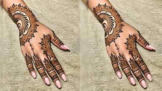 One Finger Mehndi Design Simple