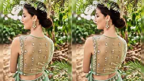 Paithani Blouse Back Design