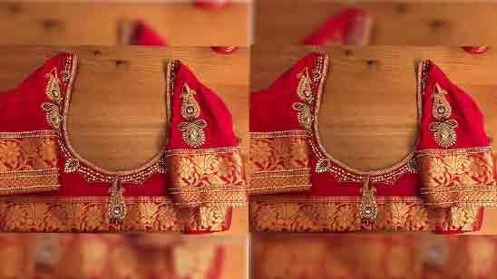 Paithani Blouse Design Back Side